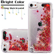 Quicksand Glitter Transparent Case for iPod Touch (5th, 6th and 7th Generation) - Red