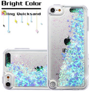 Quicksand Glitter Transparent Case for iPod Touch (5th, 6th and 7th Generation) - Blue