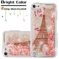 Quicksand Glitter Transparent Case for iPod Touch (5th, 6th and 7th Generation) - Eiffel Tower