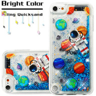 Quicksand Glitter Transparent Case for iPod Touch (5th, 6th and 7th Generation) - Space Astronaut