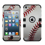 Military Grade Certified TUFF Hybrid Armor Case for iPod Touch (5th, 6th and 7th Generation) - Baseball