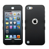 Military Grade Certified TUFF Hybrid Armor Case for iPod Touch (5th, 6th and 7th Generation) - Black
