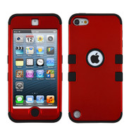 Military Grade Certified TUFF Hybrid Armor Case for iPod Touch (5th, 6th and 7th Generation) - Red