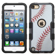 Military Grade Certified TUFF Hybrid Armor Case for iPod Touch (5th, 6th and 7th Generation) - Baseball 006