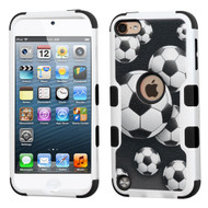 Military Grade Certified TUFF Hybrid Armor Case for iPod Touch (5th, 6th and 7th Generation) - Soccer