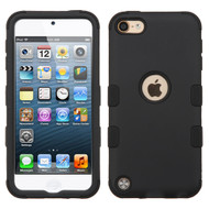 Military Grade Certified TUFF Hybrid Armor Case for iPod Touch (5th, 6th and 7th Generation) - Black 001