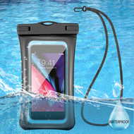 Waterproof Phone Pouch with Neck Lanyard - Black