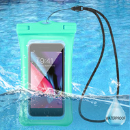 Waterproof Phone Pouch with Neck Lanyard - Teal Green