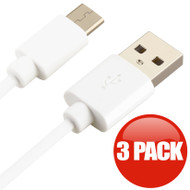 3-Pack USB-C (Type-C) Charge and Sync USB Cable - White