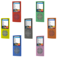7-Pack Super Grip Silicone Skin Case for 4th Generation iPod Nano