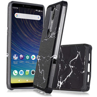 Hybrid Multi-Layer Armor Case for Coolpad Legacy - Marble Black