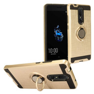 Multifunctional Hybrid Armor Case with Smart Loop Ring Holder for Coolpad Legacy - Gold