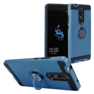 Multifunctional Hybrid Armor Case with Smart Loop Ring Holder for Coolpad Legacy - Ink Blue