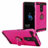 Multifunctional Hybrid Armor Case with Smart Loop Ring Holder for Coolpad Legacy - Hot Pink