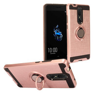 Multifunctional Hybrid Armor Case with Smart Loop Ring Holder for Coolpad Legacy - Rose Gold