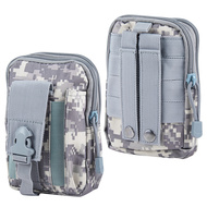 Tactical MOLLE Cell Phone Pouch - Digital Camouflage Grey