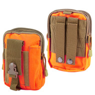 Tactical MOLLE Cell Phone Pouch - Orange