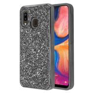 Desire Mosaic Crystal Hybrid Case for Samsung Galaxy A20 - Black
