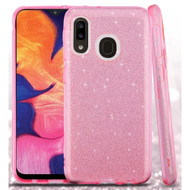 Full Glitter Hybrid Protective Case for Samsung Galaxy A10e - Pink