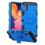 Military Grade Certified Storm Tank Hybrid Armor Case with Stand for Samsung Galaxy A10e - Blue