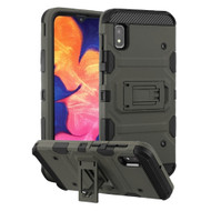 Military Grade Certified Storm Tank Hybrid Armor Case with Stand for Samsung Galaxy A10e - Dark Grey