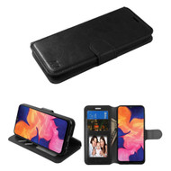 Element Series Book-Style Leather Folio Case for Samsung Galaxy A10e - Black