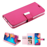 *Sale* Xtra Series Essential Leather Wallet Stand Case for Samsung Galaxy A20 - Hot Pink