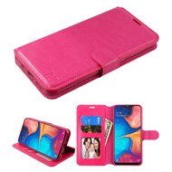 Element Series Book-Style Leather Folio Case for Samsung Galaxy A20 - Hot Pink