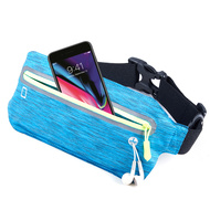 Super Slim Fanny Waist Pack Pocket Belt - Blue