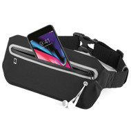 Super Slim Fanny Waist Pack Pocket Belt - Black
