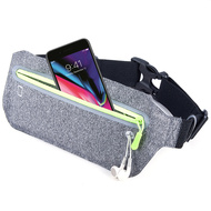 Super Slim Fanny Waist Pack Pocket Belt - Grey