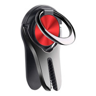 3-IN-1 Smart Loop Universal Smartphone Ring Holder / Stand / Air Vent Mount - Red