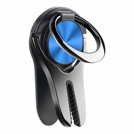 3-IN-1 Smart Loop Universal Smartphone Ring Holder / Stand / Air Vent Mount - Blue