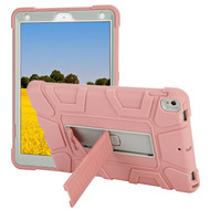 Shock Absorption Heavy Duty Rugged Hybrid Armor Case with Kickstand for iPad Air 3 / iPad Pro 10.5 inch - Pink