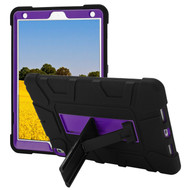 Shock Absorption Heavy Duty Rugged Hybrid Armor Case with Kickstand for iPad Air 3 / iPad Pro 10.5 inch - Black Purple
