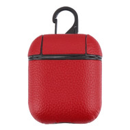 Rugged Leather Hybrid Protective Case for Apple AirPods - Red