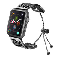 Open Cuff Bangle Stainless Steel Watch Band for Apple Watch 44mm / 42mm - Black