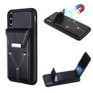Cartera Wallet Case for iPhone XS Max - Black