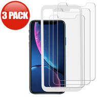 3-Pack HD Premium 2.5D Round Edge Tempered Glass Screen Protector with Installation Frame for iPhone 11 / iPhone XR