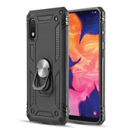 Armor Ring Finger Loop Hybrid Case for Samsung Galaxy A10e - Black