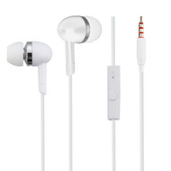 High Definition Sound Heavy Bass Stereo Earphones with In-Line Microphone - White