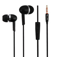 High Definition Sound Heavy Bass Stereo Earphones with In-Line Microphone - Black