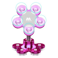 Suction Cup Desktop Stand / Glass Window Phone Holder - Hot Pink