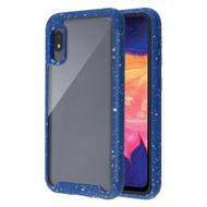 Tough Fusion-X 2-Piece Hybrid Armor Case for Samsung Galaxy A10e - Splash Navy Blue