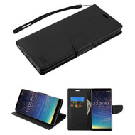 Crossgrain Series Diary Leather Wallet Stand Case for Coolpad Legacy - Black