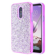 Desire Mosaic Crystal Hybrid Case for LG Stylo 5 - Purple