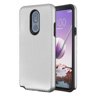 Carbon Fiber Hybrid Case for LG Stylo 5 - Silver