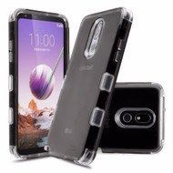 Military Grade Certified TUFF Lucid Transparent Hybrid Armor Case for LG Stylo 5 - Smoke