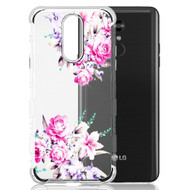 TUFF Klarity Lux Diamond Electroplating Transparent TPU Case for LG Stylo 5 - Romantic Love Flowers