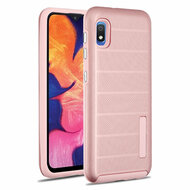 Haptic Dots Texture Anti-Slip Hybrid Armor Case for Samsung Galaxy A10e - Rose Gold